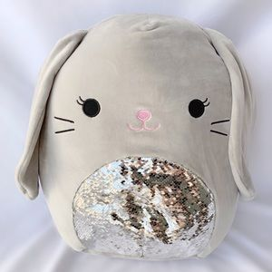 ✨🐰Squishmallow LARGE Sequin Easter Bunny Plush